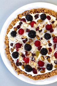 Try this Fruity Granola Breakfast Pizza for a fresh and colorful start to your day. It's so easy to make and comes together in no time!